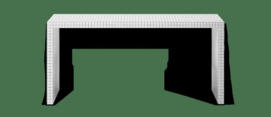 Zanotta 710 Quaderna Konsolborg i vit färg