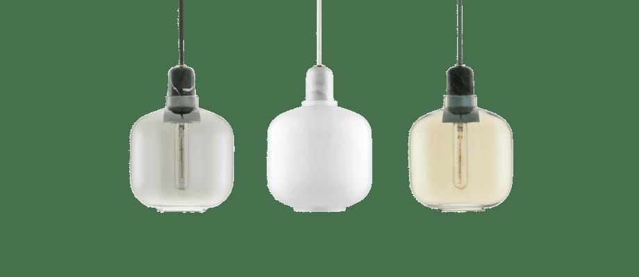 På Olsson & Gerthel köper du Normann Copenhagen Amp Lamp Small i vit marmor med opalglas