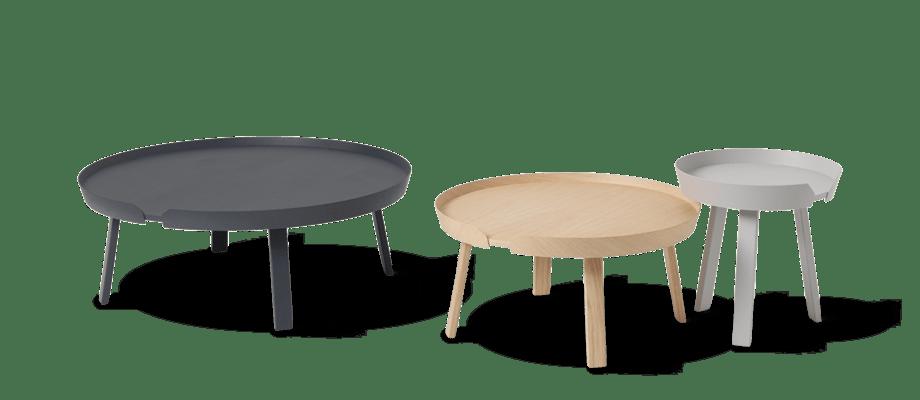Muuto Around Coffee Table Soffbord i tre storlekar och färger