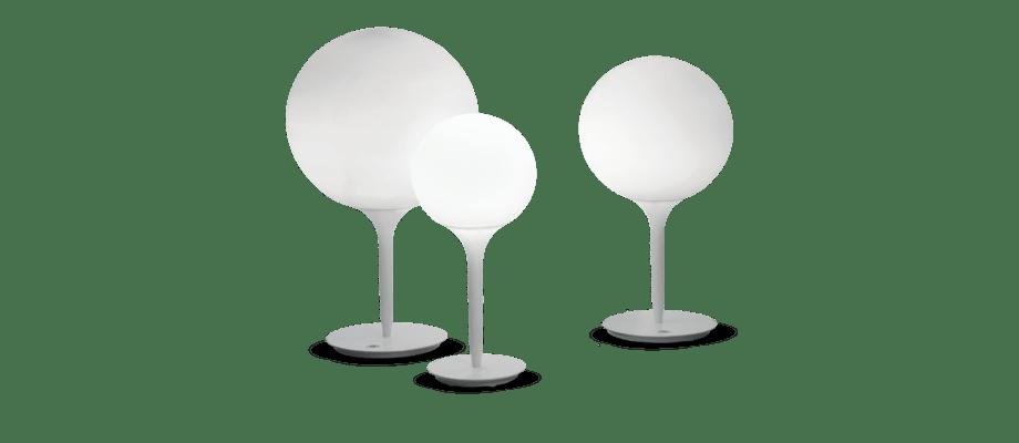 Artemide Castore Bordslampa med en diameter på 14, 25 och 35 centimeter