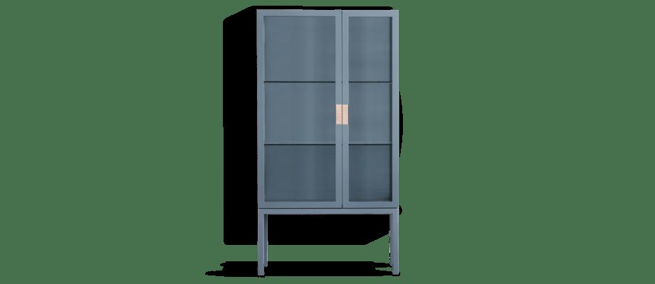 Asplund Frame Cabinet Vitrinskåp i den blå färgen Nordic Blue