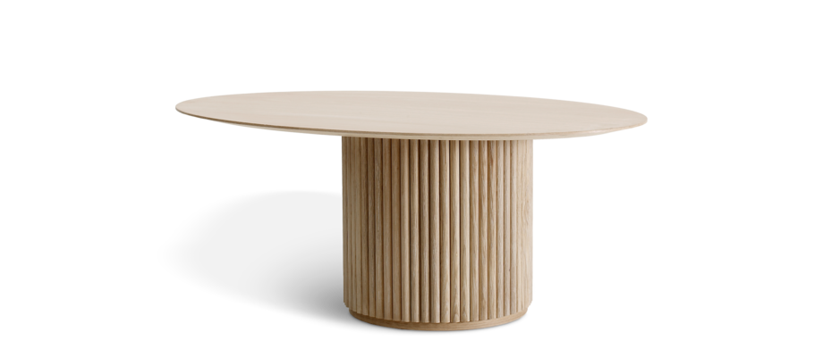 Asplund Palais Ovale Soffbord i naturlig ek med oval bordsskiva i fanér