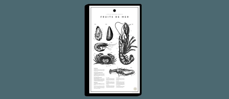 Fruits De Mer är en poster med stor detaljrikedom från Atelier Graphique