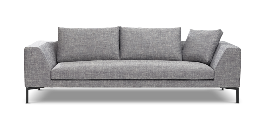 Adea Band är en soffa med avtagbar klädsel och breda armstöd i flera tyger och färger
