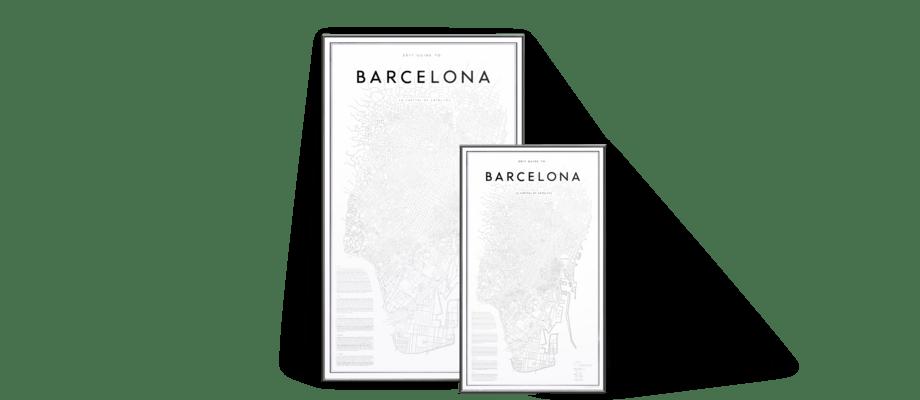 Den efterlängtade postern My Guide to Barcelona av David Ehrenstråhle finns nu på Olsson & Gerthel