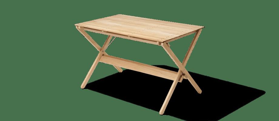 Carl Hansen & Søn BM3670 Dining Table Matbord i obehandlad teak och rostfritt stål