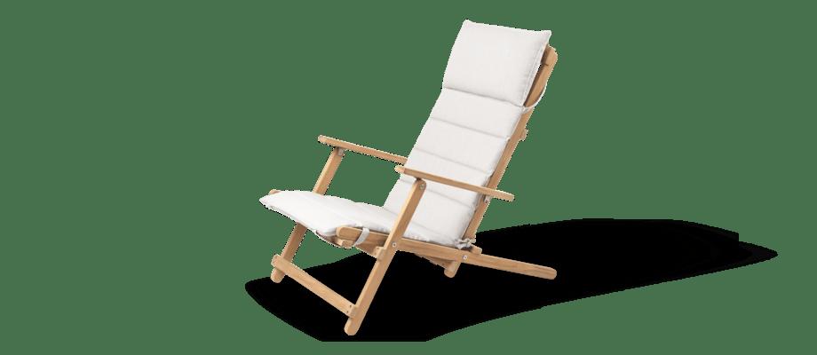 Carl Hansen & Søn BM5568 Deck Chair Fåtölj i teak med dyna