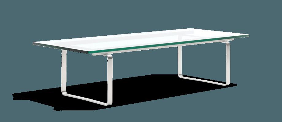 Carl Hansen & Søn CH108 Coffee Table Soffbord i glas och rostfritt stål