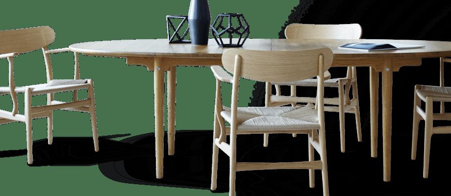 Carl Hansen & Søn CH339 Ovalt och utdragbart matbord i oljad ek