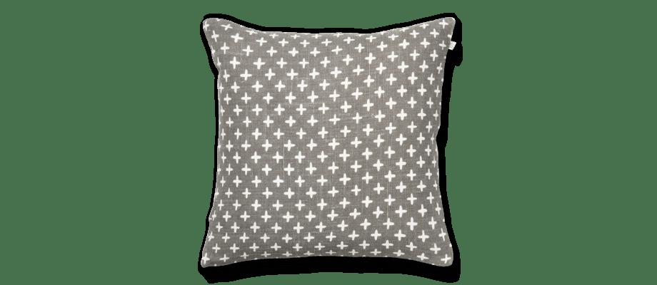 Chhatwal & Jonsson Cadi Kuddfodral i linne med vacker grå kulör och vitt mönster