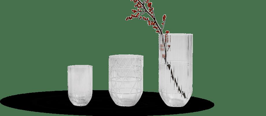 HAY Colour Vase Vas Transparent i medium, large och extra large