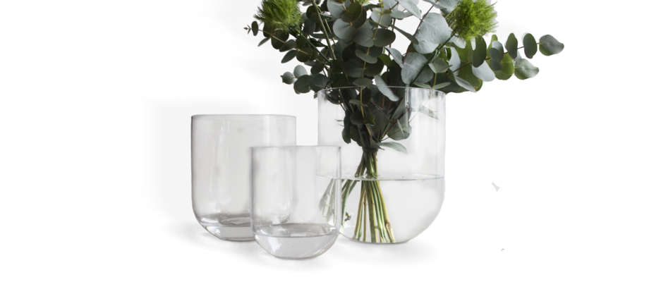 DBKD Simple Glass Vas i storlekarna small, medium och large