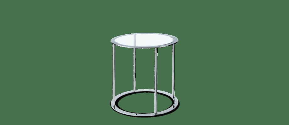 DUX Drum Sidobord i härdat glas och förkromat stål