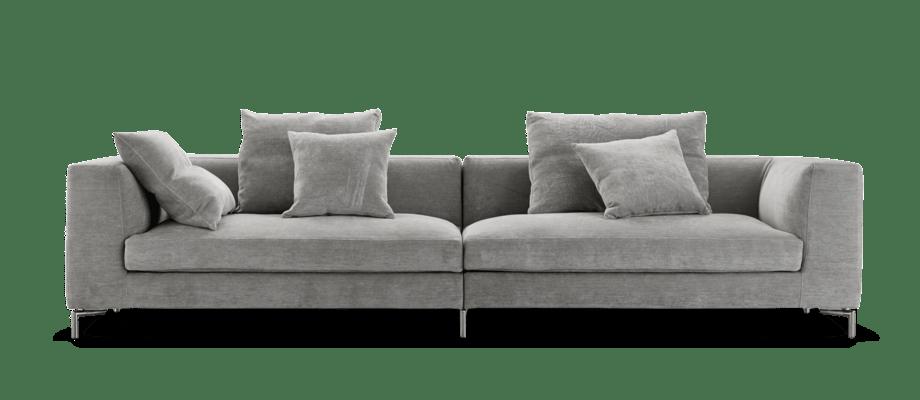 Eilersens soffa Savanna finns i både tyg och läder på Olsson & Gerthel
