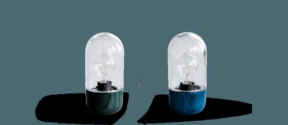 Bent Hansens Element Lamp i FSC-certifierat trä fungerar som bords-, vägg- eller taklampa