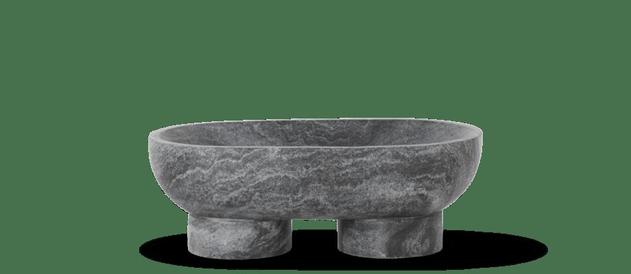 Ferm Living Alza Bowl Skål i svart marmor