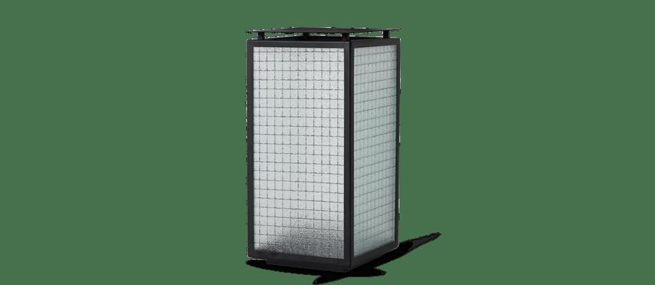 Ferm Living Haze Lantern Ljuslykta i svart pulverlackerat stål och frostat glas