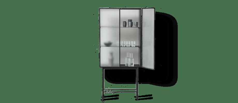 ferm LIVINGs vitrinskåp Haze med läckra frostade glasdörrar passar i vilket rum som helst