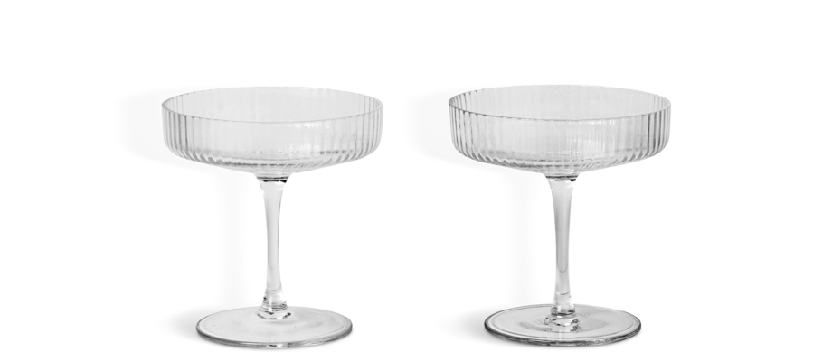 Ferm Living Ripple Champagneglas 2-pack