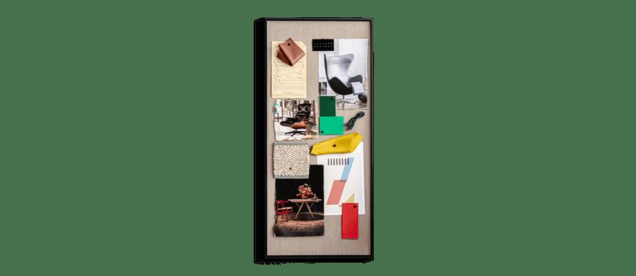 Ferm Living Scenery Pinboard Anslagstavla och moodboard i svartbetsad ask och tyg