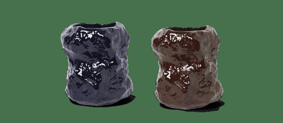 Ferm Living Tuck Vase i färgerna red brown och blue