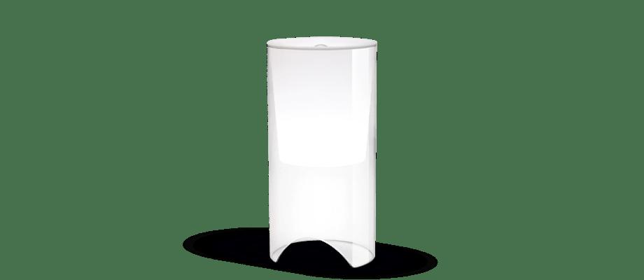 Flos Aoy Bordslampa i transparent glas och vitt opalglas av Achille Castiglioni