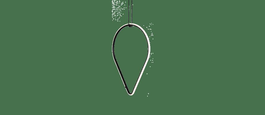 Flos Arrangements Drop Down Pendel i svart pulverlackerad aluminium