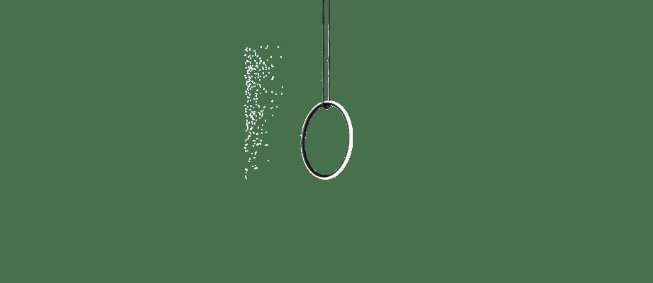 Flos Arrangements Round Small Pendel i aluminium och platinasilikon