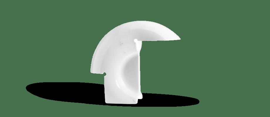 Flos Biagio Bordslampa i vit marmor