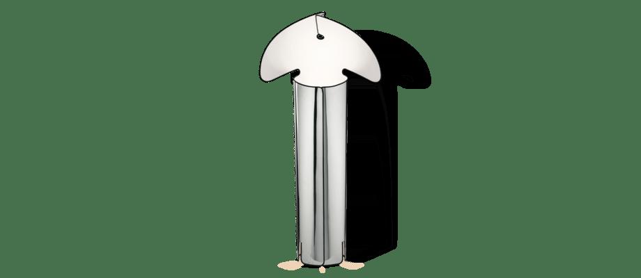 Flos Chiara Golvlampa i rostfritt stål med svart kant