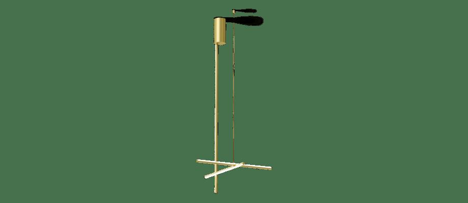 Flos Coordinates C1 Long Taklampa i champagnefärgad aluminium