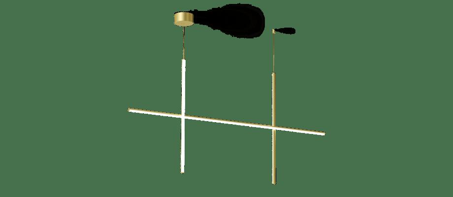 Flos Coordinates S2 Pendel i extruderad aluminium och opalt silikon