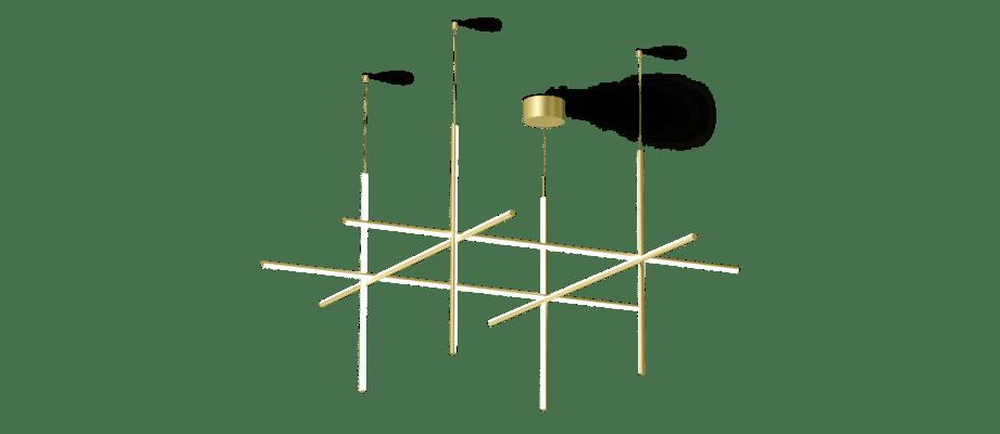 Flos Coordinates S4 Pendel i extruderad champagnefärgad aluminium