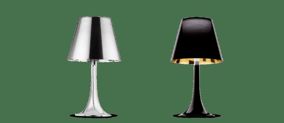 Flos Miss K är en bordslampa som finns att köpa i silver och svart