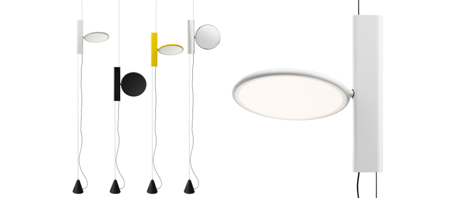 Lampan OK från Flos kan användas både som taklampa och golvlampa