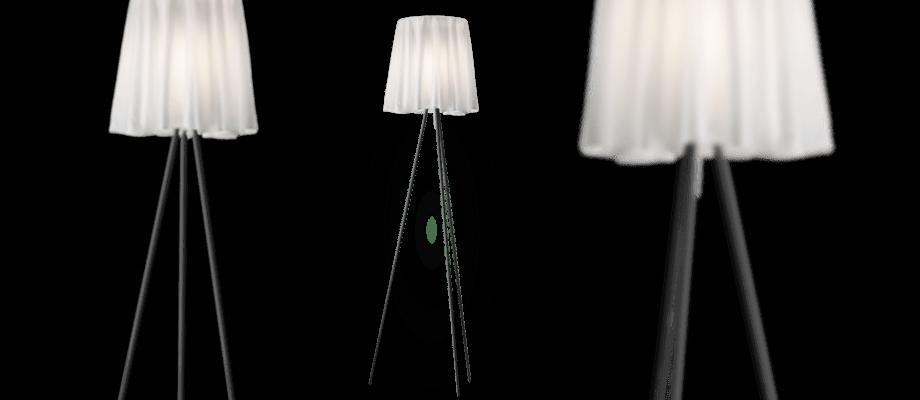 Flos Rosy Angelis i tyg, aluminium och polykarbonat i grå färg finns på Olsson & Gerthel