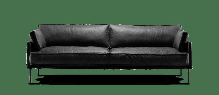 Fogia Dini Soffa i svart läder