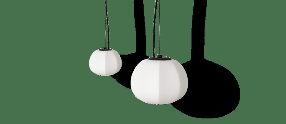 Fogia Persimon Pendel Opalglas liten och stor av Note Design Studio
