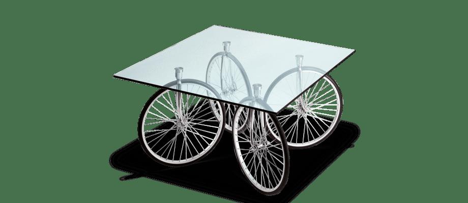 Fontana Arte Tour Table Bord med fyra cykelhjul