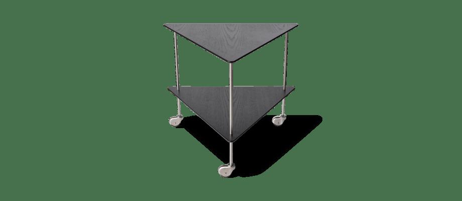 Fritz Hansen AJ Trolley i svartfärgad ask och rostfritt stål