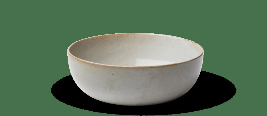 Skålen Objects Bowl från Fritz Hansen och Ceclie Manz i glaserat järnrikt stengods