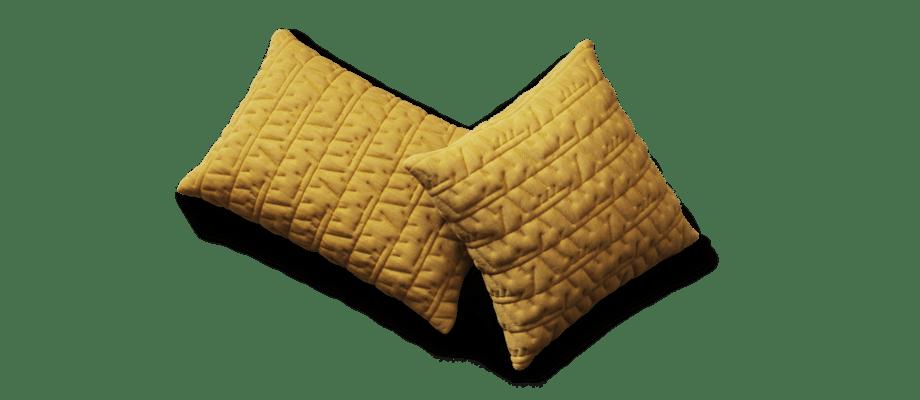 Fritz Hansen Objects Tassel Kudde i gul färg