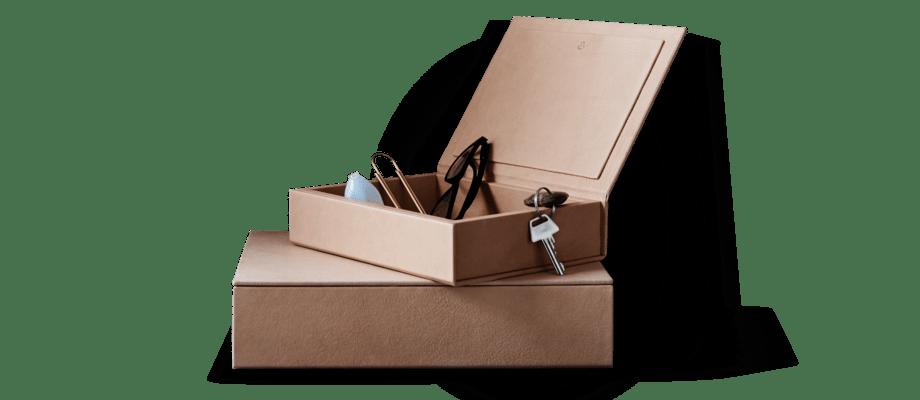 Fritz Hansen Objects Leather Box Läderlåda i lädret Pure från Sørensen Leather