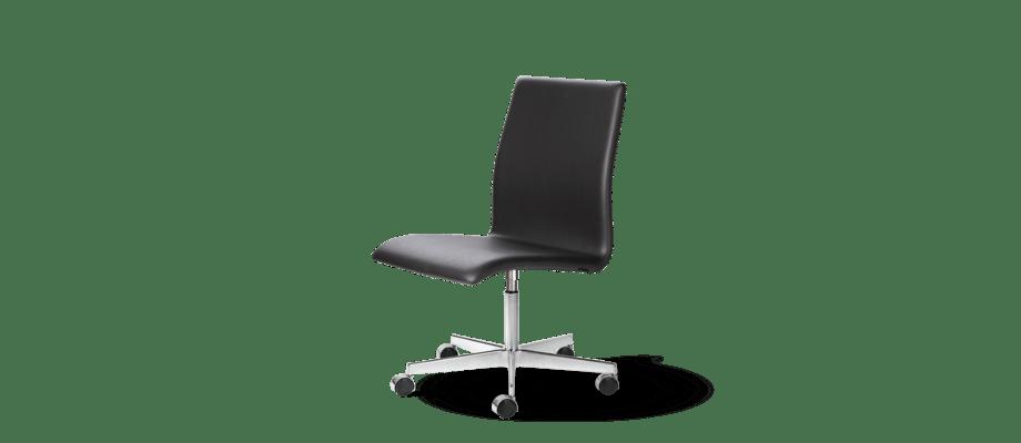 Fritz Hansen Oxford Classic 3191C Skrivbordsstol i svart läder
