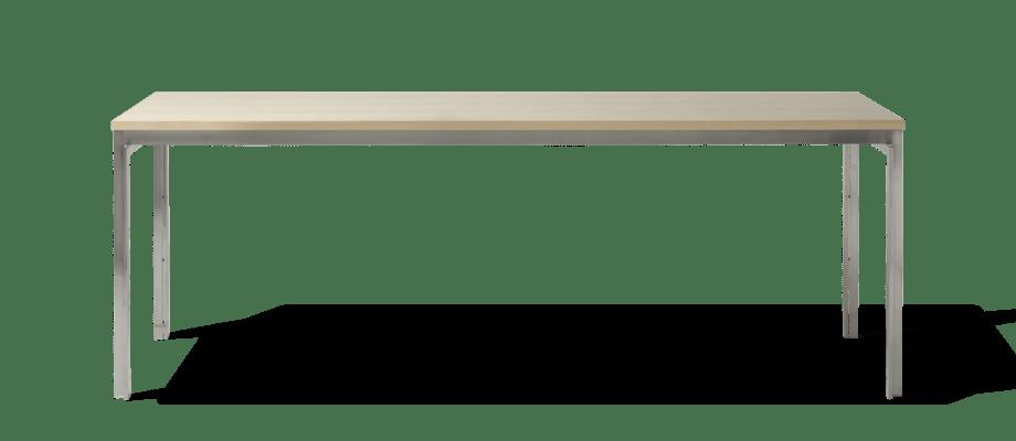Fritz Hansen PK51 Bord av Poul Kjærholm i ask och rostfritt stål