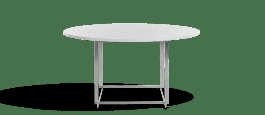 Fritz Hansen PK58 Matbord i vit polyesterkomposit av Poul Kjærholm