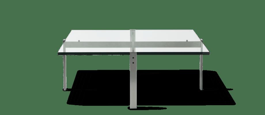 Fritz Hansen PK65 Soffbord i glas av Poul Kjærholm