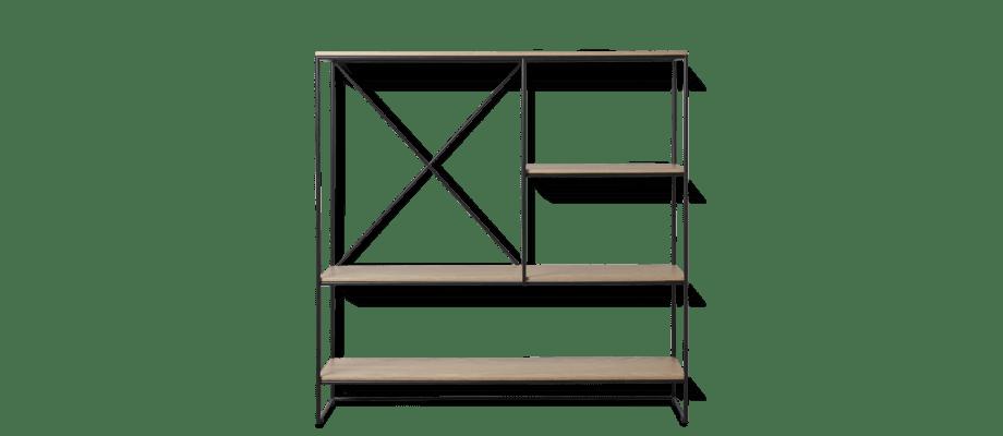Fritz Hansen Planner MC510 Hylla i massiv ek och svartlackerat stål