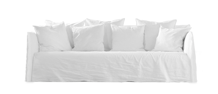 Gervasonis kanske mest populära soffa Ghost 14 i tyget Lino Bianco