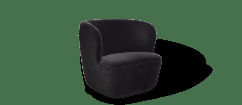 Gubi Stay Lounge Chair Fåtölj klädd i sammet